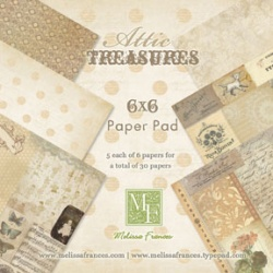 "Набор бумаги Melissa Frances ""Attic Treasures "", 15х15 см, 30 листов"