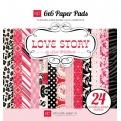 Набор бумаги Love Story, 15х15см, 24 листа
