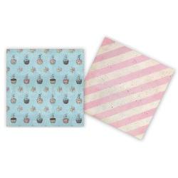 Двусторонняя бумага Ballerina Cupcakes
