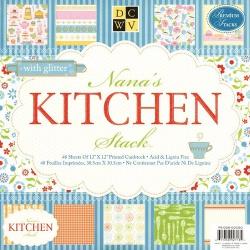 "Набор бумаги ""Nana's Kitchen"", 30х30 см, 24 листа"