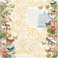 Односторонняя бумага с глиттером Mariposa
