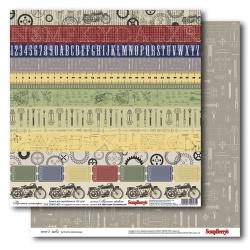Двусторонняя бумага «Простая геометрия»