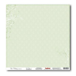 """Односторонняя бумага """"Свадебная, нежно-зеленая 2"""""""