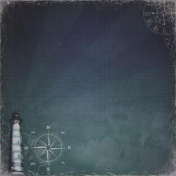 "Двусторонняя  бумага ""Сказки старого маяка"""