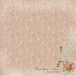 """Односторонняя бумага """"Романтика Парижа"""""""