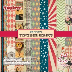 "Набор бумаги ""Старый цирк"" 15х15 см, 24 листа"