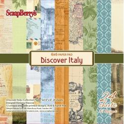 """Набор бумаги """"Итальянские каникулы"""" 15х15 см, 24 листа"""