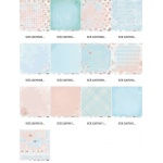 """Набор бумаги """"Розы"""" 30х30 см, 7 листов"""