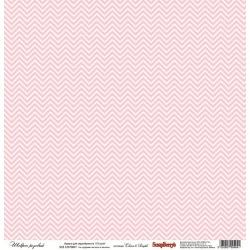 "Односторонняя бумага ""Розовый шеврон"""