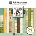 "Набор бумаги ""This & That charming"", 15х15 см,  24 листа"