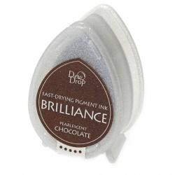 Пигментные перламутровые чернила  Brilliance Dew Drop  цвет chocolate