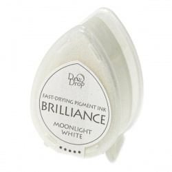 Пигментные перламутровые чернила  Brilliance Dew Drop  цвет moonlight white