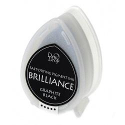 Пигментные перламутровые чернила  Brilliance Dew Drop  цвет graphite black