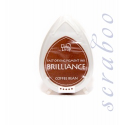 Пигментные перламутровые чернила  Brilliance Dew Drop цвет Coffee Bean