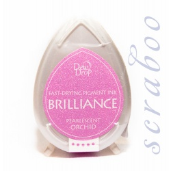 Пигментные перламутровые чернила  Brilliance Dew Drop цвет Pearlescent Orchid