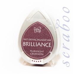 Пигментные перламутровые чернила  Brilliance Dew Drop цвет Pearlescent Crimson