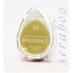 Пигментные перламутровые чернила  Brilliance Dew Drop цвет Pearlescent Olive