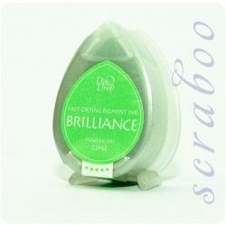 Пигментные перламутровые чернила  Brilliance Dew Drop цвет Pearlescent Lime