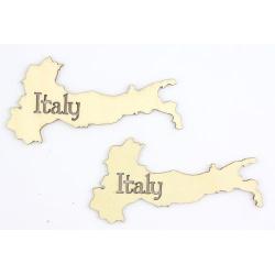 """Лазерная вырубка из дерева """"Карта Италии"""", 2шт"""