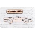 "Фигурка из чипборда ""Авто Corvette 1993"""