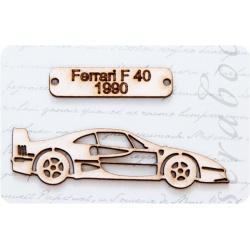 """Фигурка из чипборда """"Авто Ferrari F 40 1990"""""""