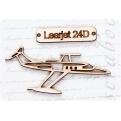 """Фигурка из чипборда """"В-Learjet 24D"""""""