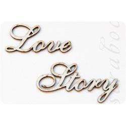 "Надпись из чипборда ""Love Story"""