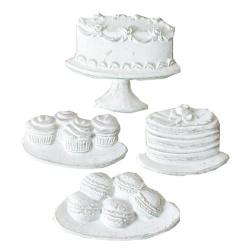 """Набор фигурок из гипса """"Пирожные и торты"""" Melissa Frances"""
