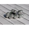 Сердечки серебряные в глиттере, 6шт, 20мм