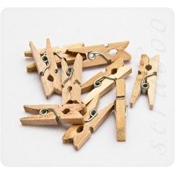 Набор деревянных мини-прищепок