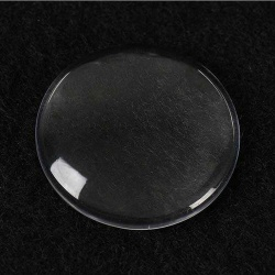 Набор прозрачных кабошонов круг, 25мм, 2шт