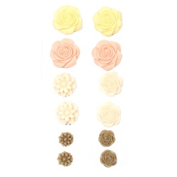 """Набор объемных цветочков """"Шебби"""", 70Х135мм, самоклеющиеся"""