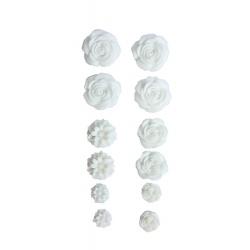 """Набор объемных цветочков """"Белые"""", 70Х135мм, самоклеющиеся"""
