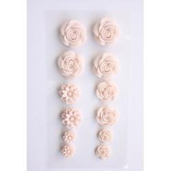 """Набор объемных цветочков """"Нежно-розовые"""", 70Х135мм, самоклеющиеся"""
