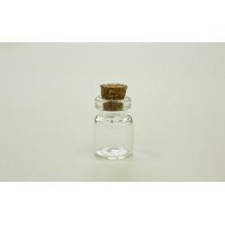 Набор стеклянных бутылочек с пробкой 13х18мм, 5шт
