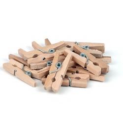 Прищепки деревянные натуральные 2,5 см, 12 шт