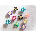 Набор объемных цветочков Плюмерия, 10шт