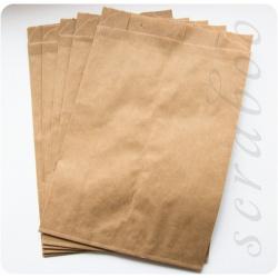 Набор бумажных крафт пакетов, 5шт
