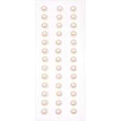 Половинки жемчужин на клеевой основе 6мм белые, 39шт