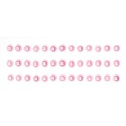 Половинки жемчужин на клеевой основе 6мм розовые, 39шт