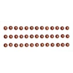 Половинки жемчужин на клеевой основе 6мм коричневые, 39шт