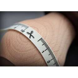 Лента принтованная сантиметр, 1см, 2м