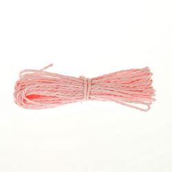 Шнур бумажный крученый, светло-розовый, 5м