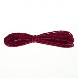Шнур бумажный крученый, темно-красный, 5м