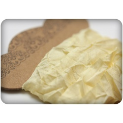 Шебби ленточка, нежно-желтая, 15мм, 1м