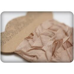 Шебби ленточка, нежно-коричневый, 10мм, 1м