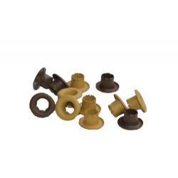 Набор люверсов, 4,8мм, коричневые, 50шт