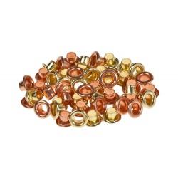 Набор люверсов, 4,8мм, золото и медь, 50шт