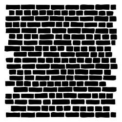 "Трафарет ""Кирпичная стена"", 15,2х15,2см"