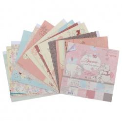"""Набор бумаги """"Дружба мне это нужно"""", Медвежонок Винни, 29,5х29,5 см, 12 листов"""